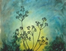 Cow Parsley In Winter 91x91cm 36x36ins