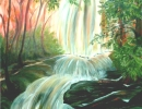 My Forest Waterfall 90x90cm 36x36ins