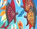 Dawn Chorus, Butterflies 40x56cm, 16x22ins