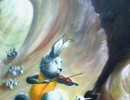 Dawn Chorus, Rabbit 40x56cm, 16x22ins