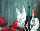 Dawn Chorus, Storks 40x56cm, 16x22ins